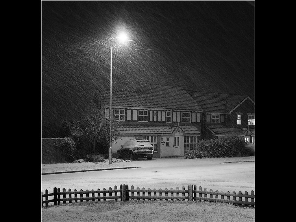 Late Night Flurry (c) Mike Atkinson [Highly Commended]
