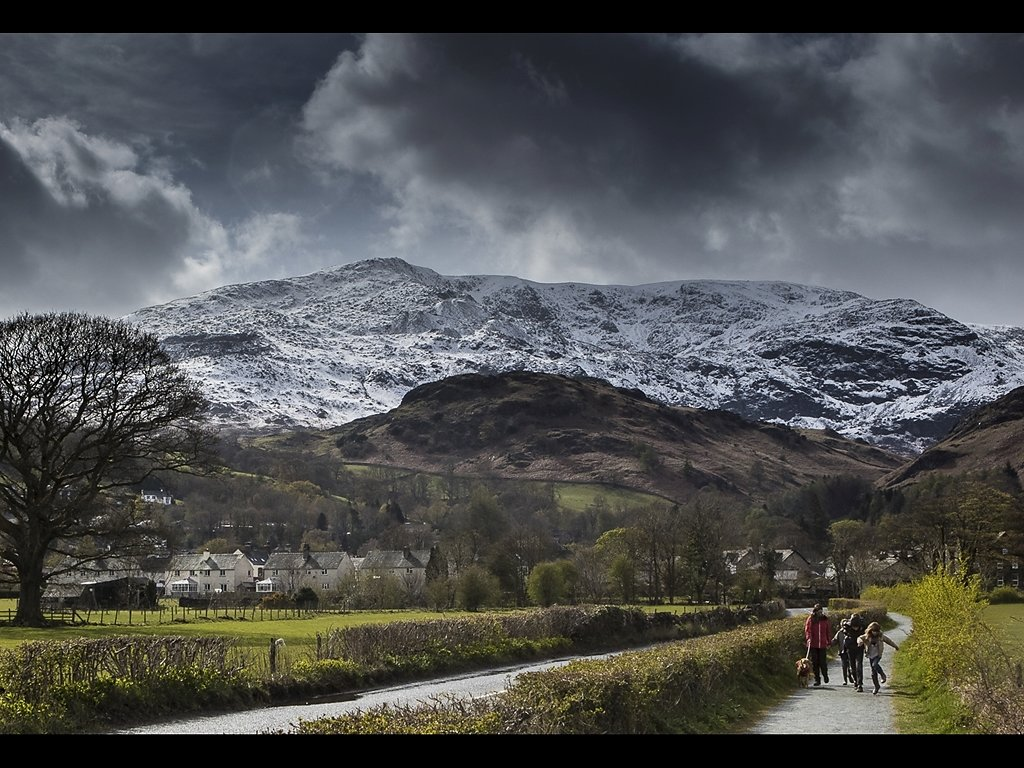 Late Snow on Coniston Old Man (c) John Metcalfe [Highly Commende