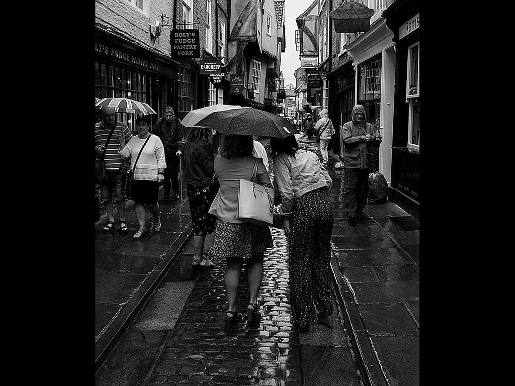 Caught in a shower York (c) Mike Atkinson [Highly Commended]