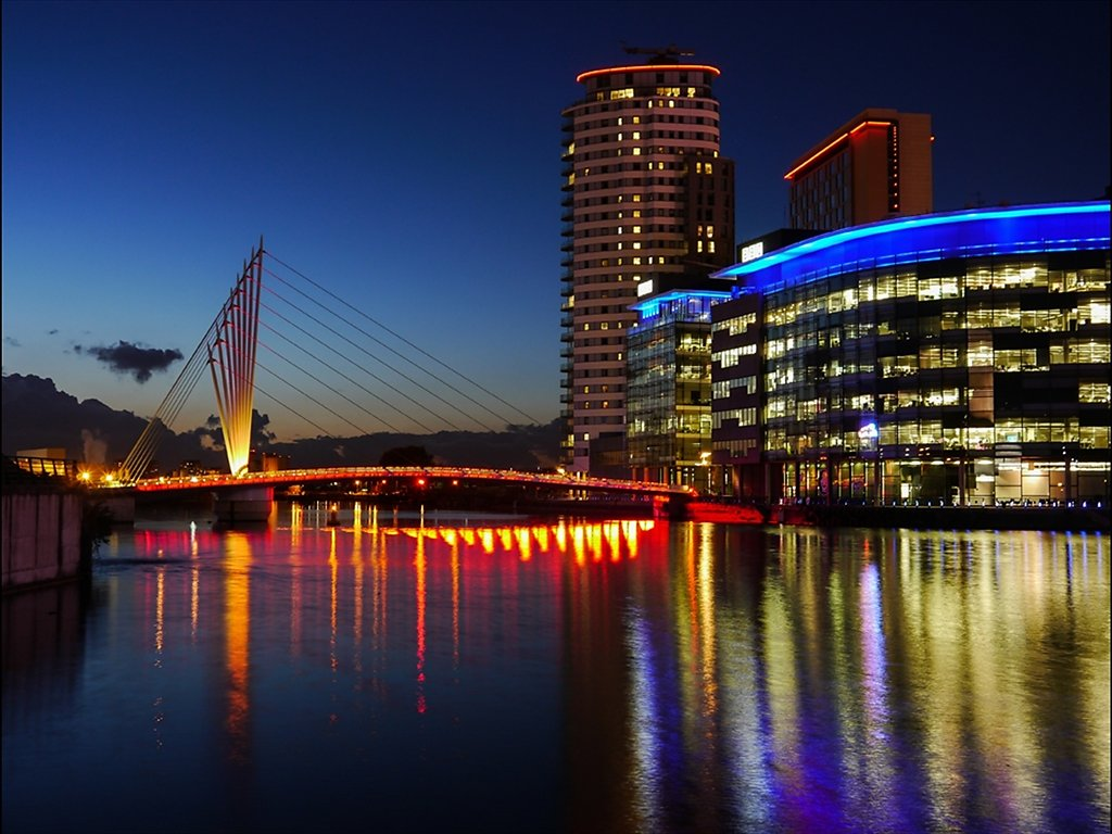 Sunset at Media City (C) Sally Anderson