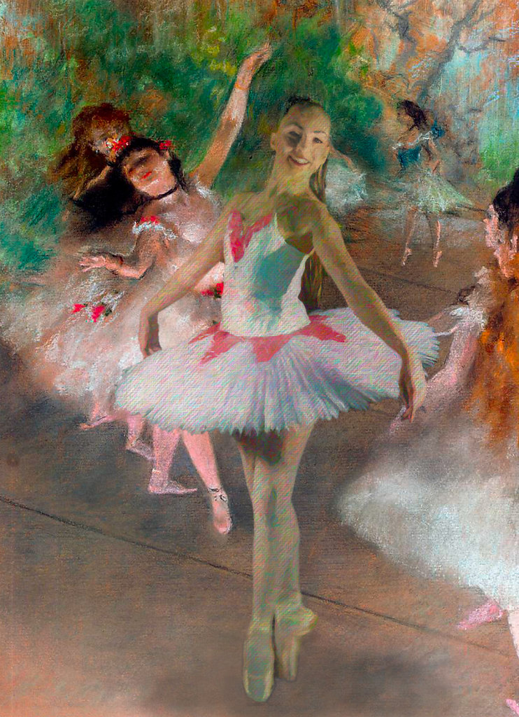 After Degas by Brad Cheek