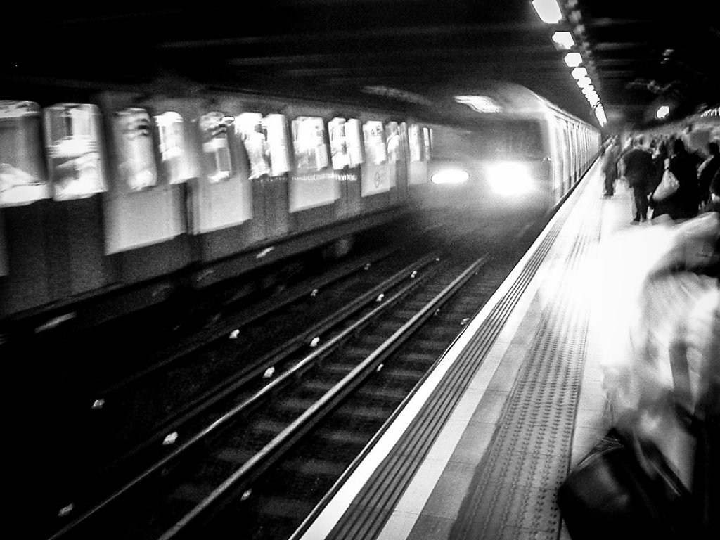 'PUNK - Down At The Tube Station At Midnight' Copyright (C) Dave Bleasdale 2019
