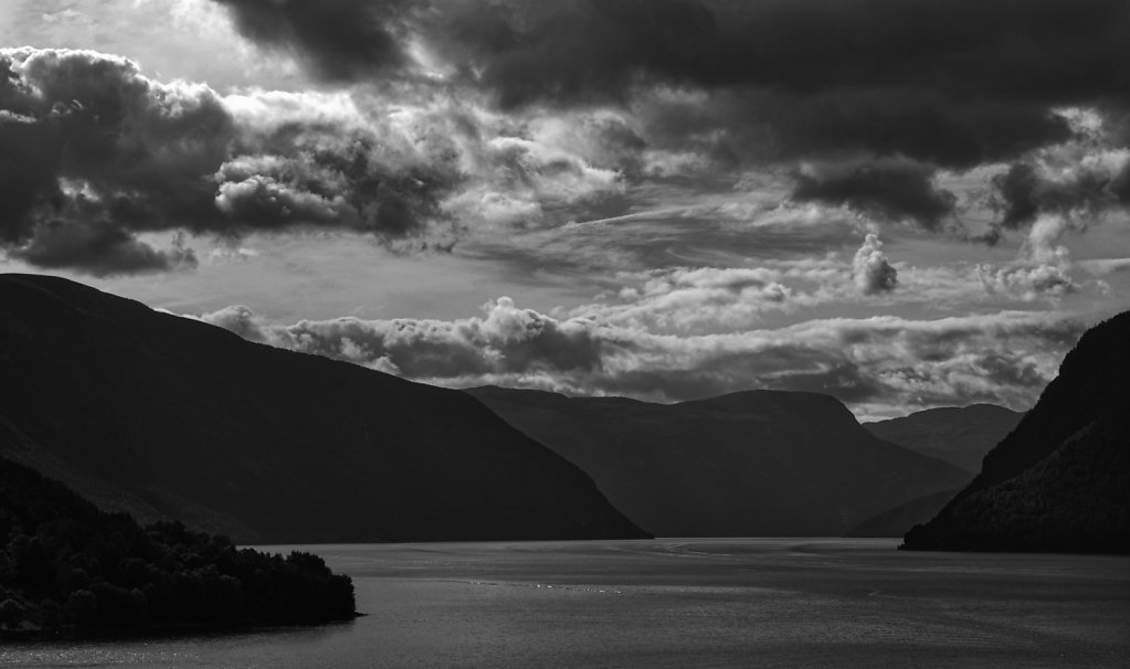 'Clouds over Norwegian Fjord' Copyright (C) Keith Taylor 2019