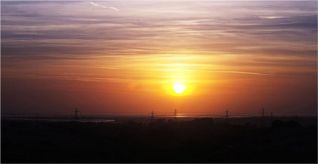 'Sunset over Morecombe Bay' Copyright (C) Phillip Almond 2019