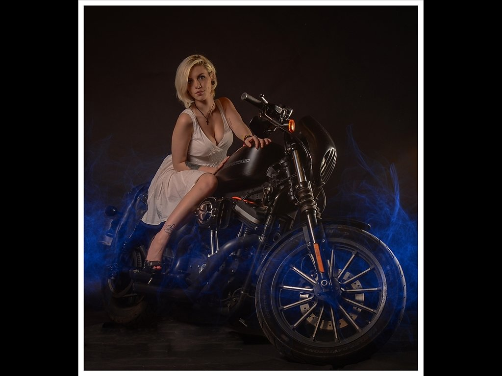 Beth on a Harley (c) Ruth Lochrie [Commended]