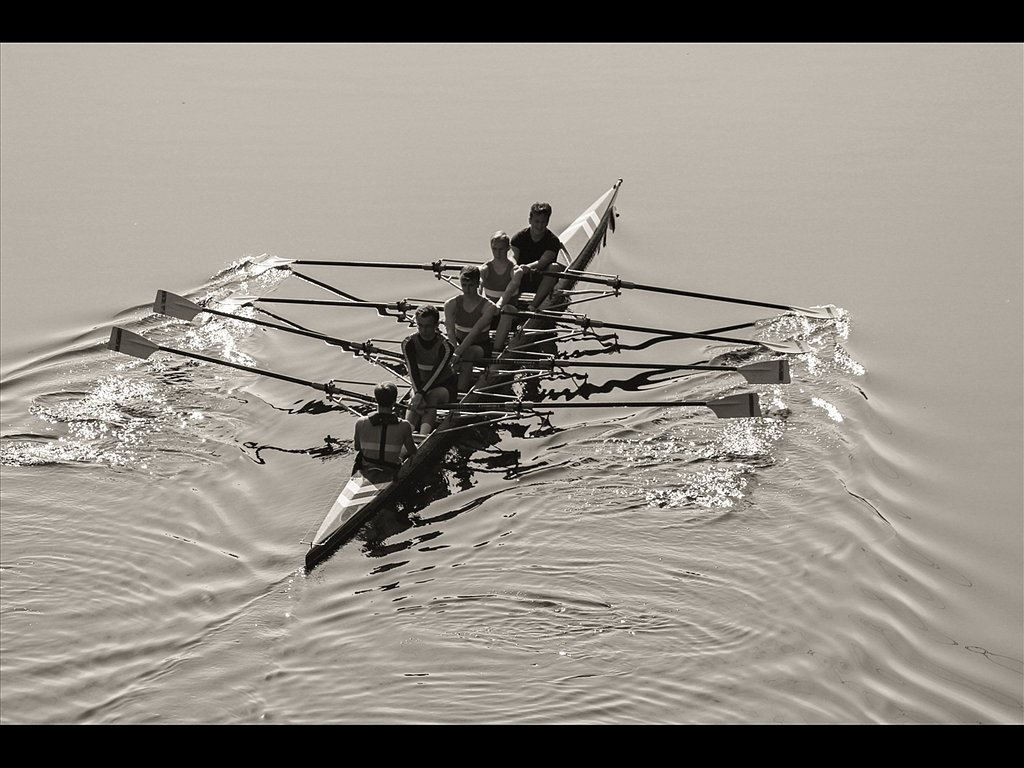 Rowing On the River (c) Vince Spratling [Commended]