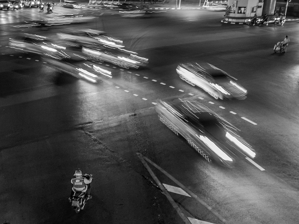 Busy traffic junction, Thailand_ (c) Sally Anderson [Commended]