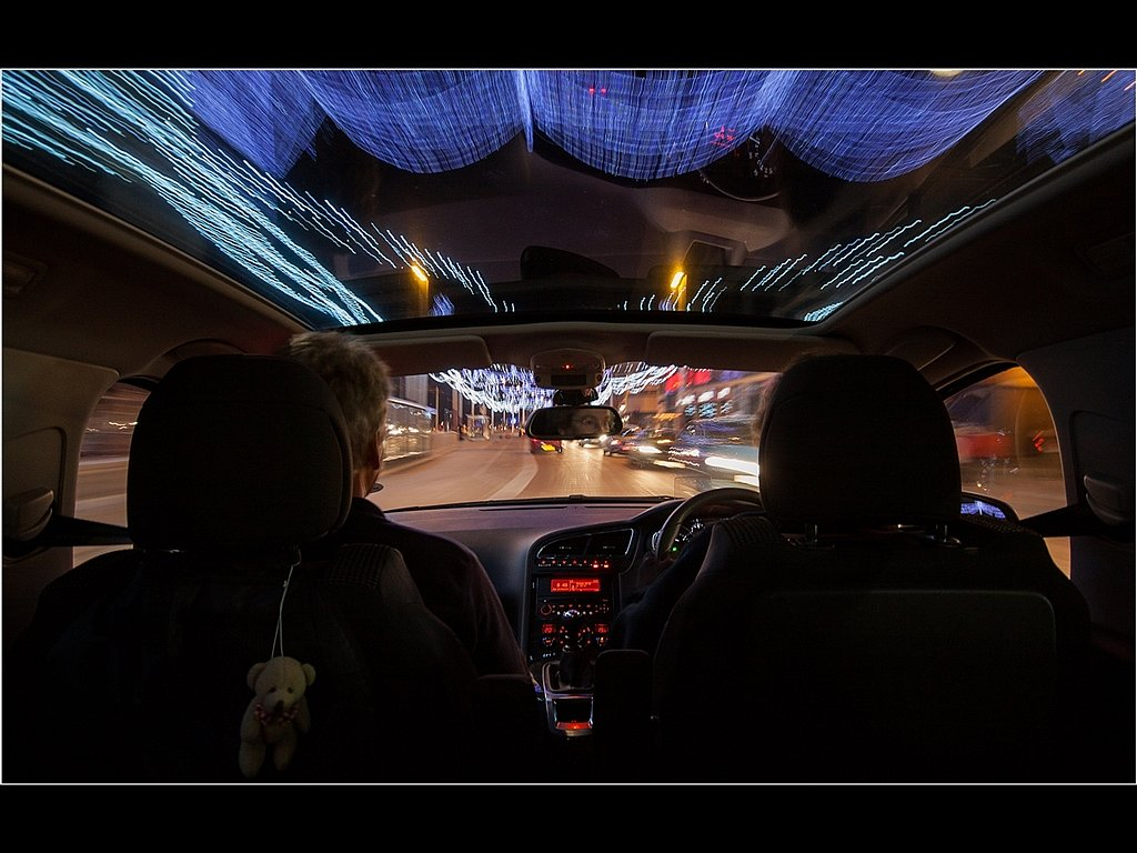 Illuminated Driving (c) Mike Atkinson [Highly Commended]
