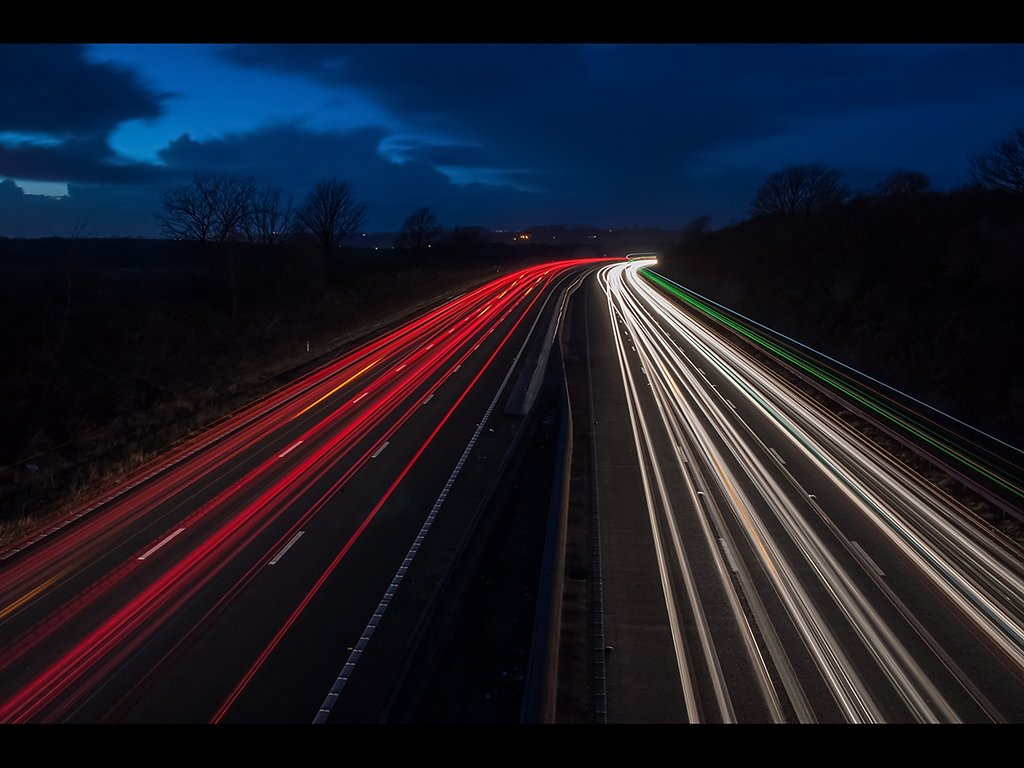 Night Trails (c) Gary Barton [Highly Commended]