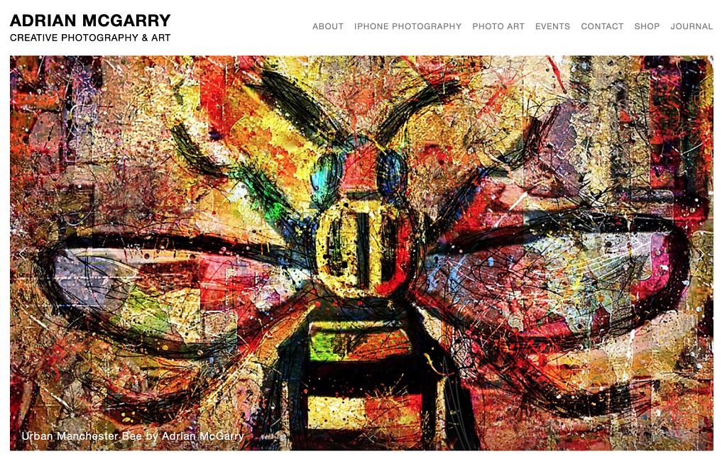 Manchester Urban Bee by Adrian McGarry